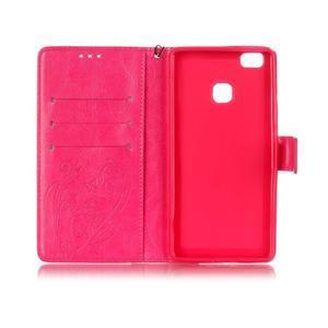 Magicfly knižkové puzdro na telefon Huawei P9 Lite - rose - 4