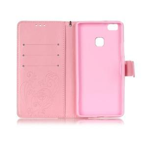 Magicfly knížkové pouzdro na telefon Huawei P9 Lite - růžové - 4