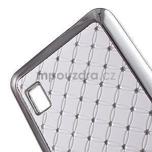 Drahokamový kryt na Huawei Y635 - biely - 4
