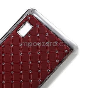 Drahokamový kryt na Huawei Y635 - červený - 4