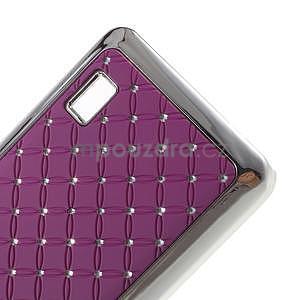 Drahokamový kryt na Huawei Y635 - fialový - 4