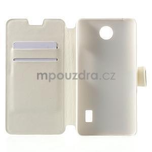 Bílé kožené puzdro na Huawei Y635 - 4