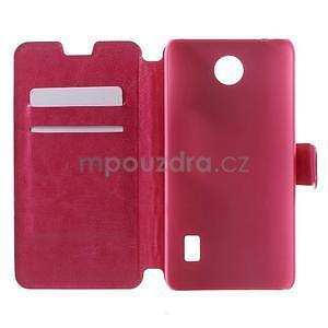 Rose kožené puzdro na Huawei Y635 - 4