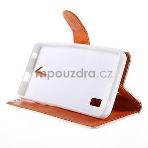 Zapínací peňaženkové puzdro na Huawei Y635 - folk - 4
