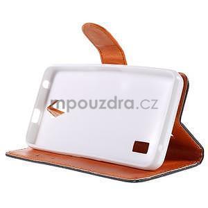 Zapínací peňaženkové puzdro na Huawei Y635 - arabesque - 4