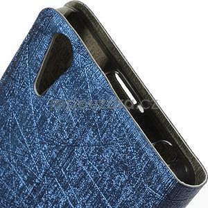 Klopové puzdro pre Lenovo A6000 - tmavo modré - 4