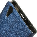 Klopové puzdro pre Lenovo A6000 - tmavo modré - 4/5