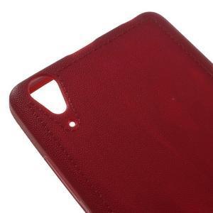 Texturovaný gélový obal pre Lenovo A6000 - červený - 4
