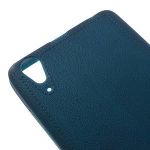 Texturovaný gélový obal pre Lenovo A6000 - modrý - 4