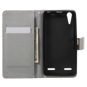 Emotive peňaženkové puzdro pre mobil Lenovo A6000 - cool mačka - 4