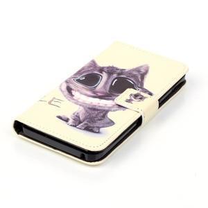 Knížkové pouzdro na mobil Lenovo Vibe K5 / K5 Plus - kočka - 4