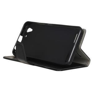 Knížkové PU kožené pouzdro na Lenovo Vibe K5 / K5 Plus - černé - 4