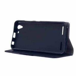 Peněženkové pouzdro na Lenovo Vibe K5 / K5 Plus - černé - 4