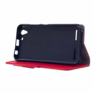 Peňaženkové puzdro pre Lenovo Vibe K5 / K5 Plus - červené - 4