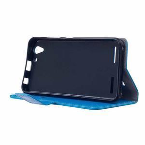 Peněženkové pouzdro na Lenovo Vibe K5 / K5 Plus - modré - 4