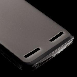 Matný gélový obal pre mobil Lenovo Vibe K5 / K5 Plus - šedý - 4