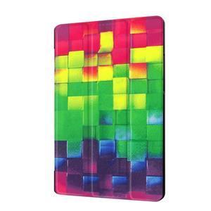 Trifold PU kožené pouzdro na Lenovo Tab 2 A8-50 - 3D kostky - 4