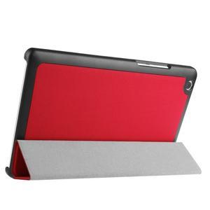 Trifold stavitelné puzdro pre Lenovo Tab 2 A8-50 - červené - 4