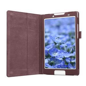 Dvojpolohové puzdro pre tablet Lenovo Tab 2 A8-50 - hnedé - 4