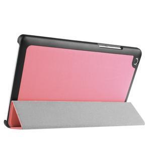 Trifold stavitelné puzdro pre Lenovo Tab 2 A8-50 - ružové - 4