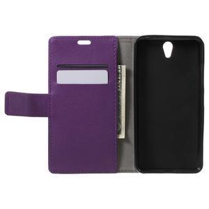Peňaženkové puzdro pre mobil Lenovo Vibe S1 - fialové - 4
