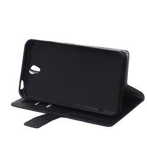 Croco PU kožené pouzdro na mobil Lenovo Vibe S1 - černé - 4