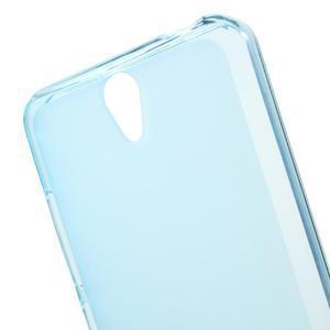Matný gélový obal pre mobil Lenovo Vibe S1 - modrý - 4