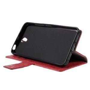 Cartoo peňaženkové puzdro pre Lenovo Vibe S1 - červené - 4
