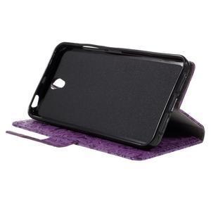 Cartoo peňaženkové puzdro pre Lenovo Vibe S1 - fialové - 4