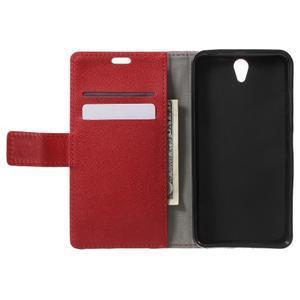 Peňaženkové puzdro pre mobil Lenovo Vibe S1 - červené - 4