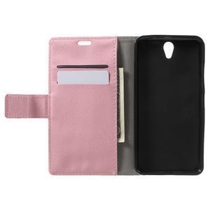 Peňaženkové puzdro pre mobil Lenovo Vibe S1 - ružové - 4