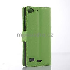Zelené peňaženkové puzdro Lenovo Vibe X2 - 4