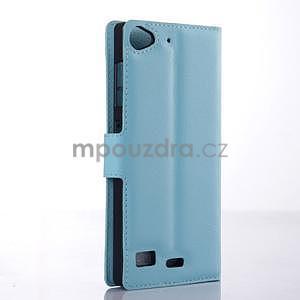 Světle modré peňaženkové puzdro Lenovo Vibe X2 - 4