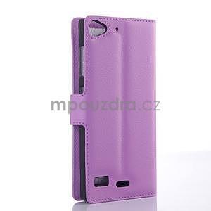 Fialové peňaženkové puzdro Lenovo Vibe X2 - 4