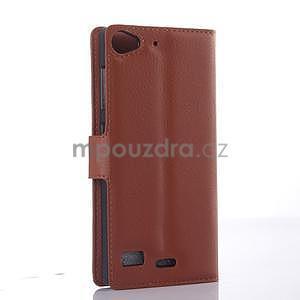 hnedé peňaženkové puzdro Lenovo Vibe X2 - 4