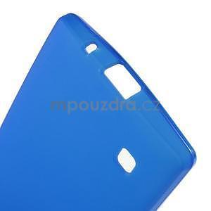 Matný gélový kryt na LG Spirit - modrý - 4