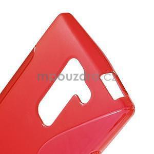 S-line gélový obal pre LG Spirit 4G LTE - červený - 4