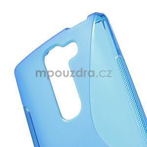 S-line gélový obal na LG Spirit 4G LTE - modrý - 4