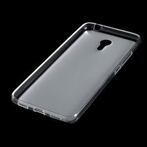 Matný gélový obal pre mobil Meizu M3 note - transparentný - 4