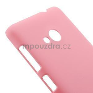 Růžové pogumované plastové puzdro Microsoft Lumia 535 - 4