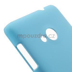 Světle modré pogumované plastové puzdro Microsoft Lumia 535 - 4