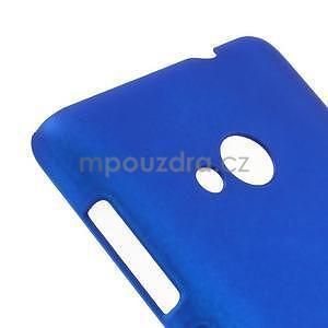 Modré pogumované plastové puzdro Microsoft Lumia 535 - 4
