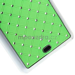 Drahokamový kryt na Microsoft Lumia 535 - zelený - 4