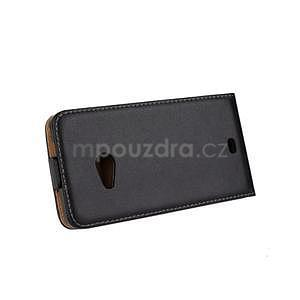 Flipové čierné puzdro na Microsoft Lumia 535 - 4