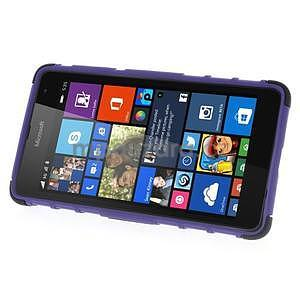 Vysoce odolný obal pre Microsoft Lumia 535 - fialový - 4