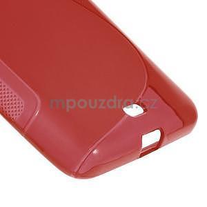 Gélový obal na Microsoft Lumia 535 - červený - 4