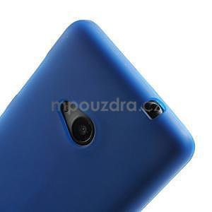 Matný gélový obal Microsoft Lumia 535 - modrý - 4