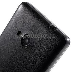 Ultra tenký kožený kryt pre Microsoft Lumia 535 - čierny - 4