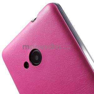Ultra tenký kožený kryt na Microsoft Lumia 535 - rose - 4