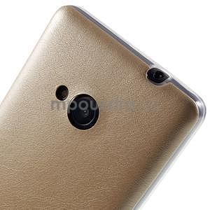 Ultra tenký kožený kryt na Microsoft Lumia 535 - champagne - 4